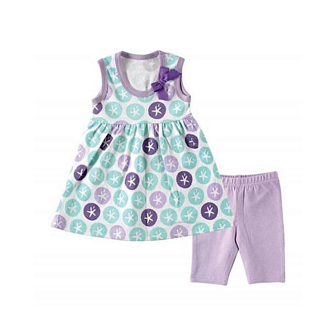 71868f066 Hudson Baby Hudson Baby Girls' Dress And Leggings - Purple | Jumia ...
