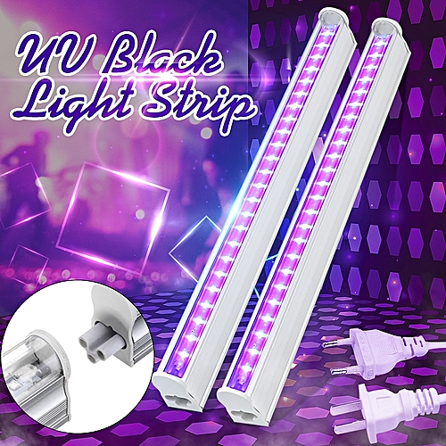 30cm Black Light Bar UV LED 395nm Blacklight Party Club Halloween Decor 110-220V Plug In US