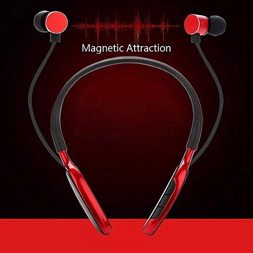 Bluetooth Earpiece Headset Bluetooth Earphones Neckband-Red
