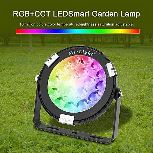 MiLight 2.4G 9W LED RGB+CCT WiFi Floodlights RGBW Waterproof Security Wall Garden Lamp DC24V