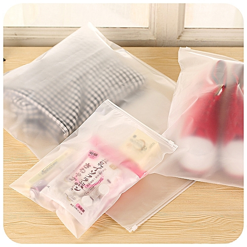 Thicker Transparent Waterproof Clothes Storage Bag Travel Wash Protect Cosmetics Plastic Storage Bag L
