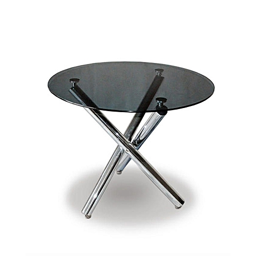 Round Dining Table - Black/Silver
