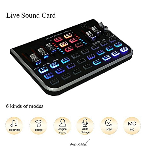 Audio Digital Of Field Sound Card Microphone Mixer