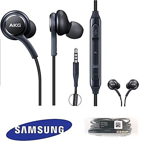 Samsung Galaxy S9 S8 Plus Note 8 Earphones AKG Headphones - Black