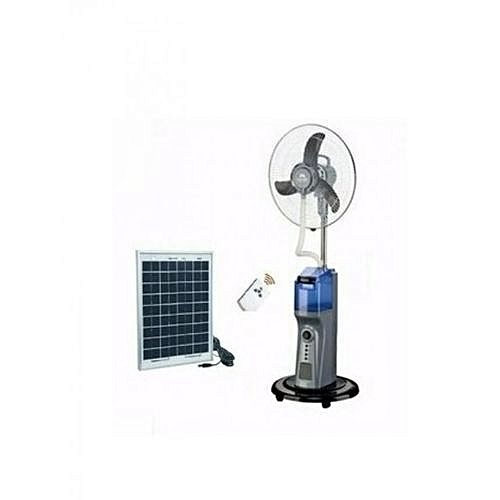 Rechargeable Mist Fan With Remote Control + 20W Solar Panel