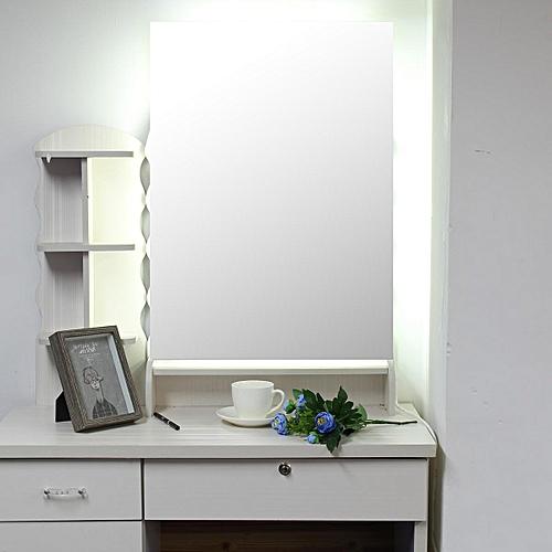 50x70cm LED Bathroom Wall Mirror Illuminated Light Anti-fog With Touch Button