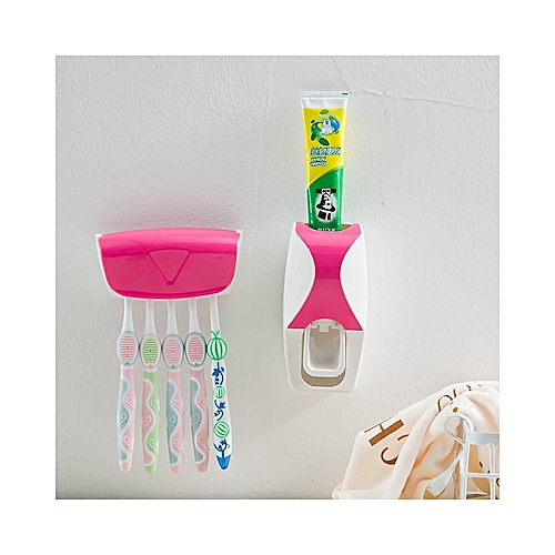 Automatic Toothpaste Squeezing Device And Toothbrush Holder