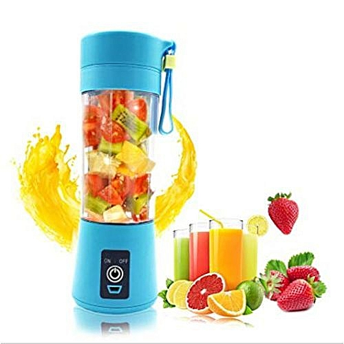 Portable Rechargeable USB Fruit Juicer Mini Blender Smoothie Maker And Fruit Extractor Squeezer - Blue