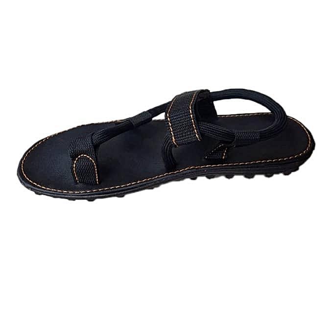 68143f6f0031 Fashion Men Unique Black Sandal