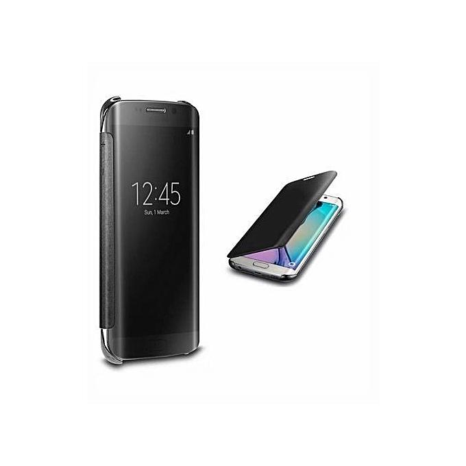 cheaper ac90e 15eb2 Flip Cover Case For Samsung Galaxy S8 Plus Black NO Sensor