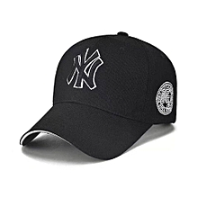 d16777562c0 NY Designer Baseball Face Cap Hat- Black