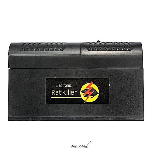 Black Electronic Mouse Mice Rat Zapper Rodent Trap Killer Victor Control Us Plug