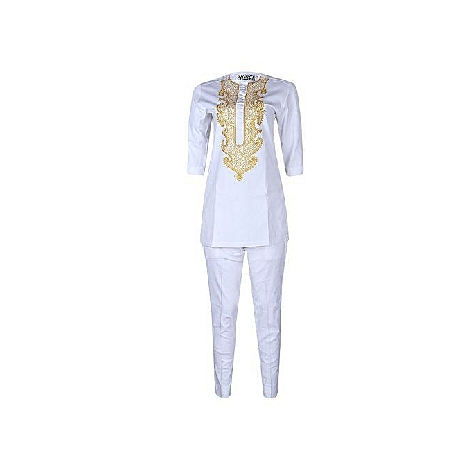 85a0955570 Natives Smart Woman Top And Trouser Native- White With Gold ...