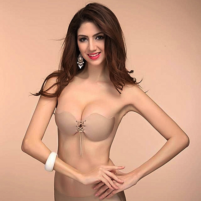 6ec36a43d Fovibery Women Sexy Strapless Instant Breast Lift Invisible Silicone Push  Up Bra