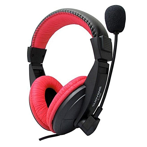 Stereo Earphone Headband Gaming Headset Microphone For PC Notebook RD