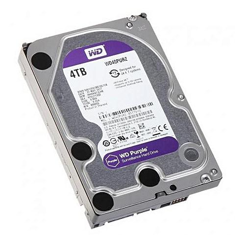 4TB Surveillance Hard Disk Drive -WD40PURZ -Purple
