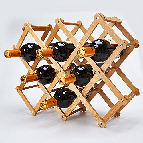 Wine Rack Folding Wine Holders Bamboo Wine Rack Countertop Home Decoration