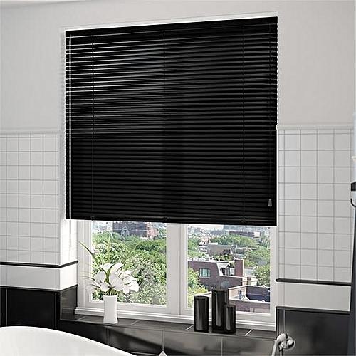 Aluminium Venetian Window Blinds (black) Prepaid Only