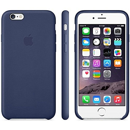 pretty nice 5d527 002d1 Silicone Leather Back Case For Iphone 6/6s Plus - Blue