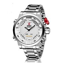 Ohsen Quartz Multi-function LED Display Bracelet Watch