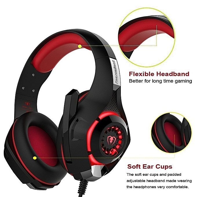 Xbox One Headset-RedHoney PS4 Gaming Headset-Xbox Gaming Headset-LED Gaming  Headphones With Microphone For PS4 Xbox One PSP Netendo DS PC Tablet