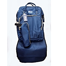 Multi Functional Backpack Travel Bag Baby Diaper Changing Handbag Large Capacity Blue