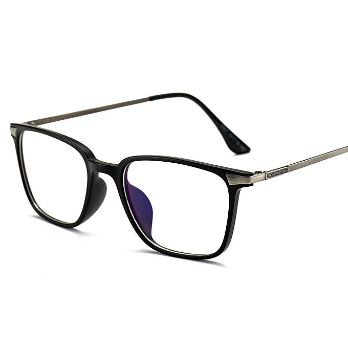 5f27af00f4 Rectangle Eyeglasses Frame Black TR90 Titanium Computer Glasses Eyewear  Women Men