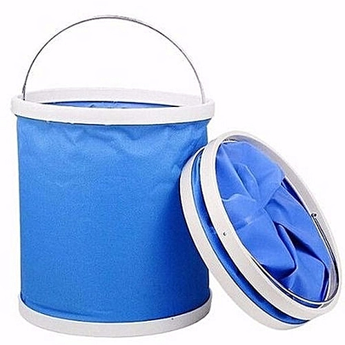 9 Litre Portable Foldaway Bucket - Blue