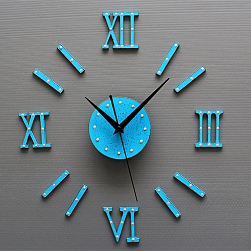 European Style DIY 3D Wall Clock Home Wall Stickers Decoration Art Clock
