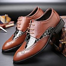 bdc442ede0e5 Brogue Shoes Men Carving Flower Oxfords Formal Shoes British Casual Shoes