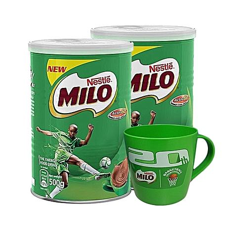 Milo Champion Tea 500g X 2 + Branded Milo Cup