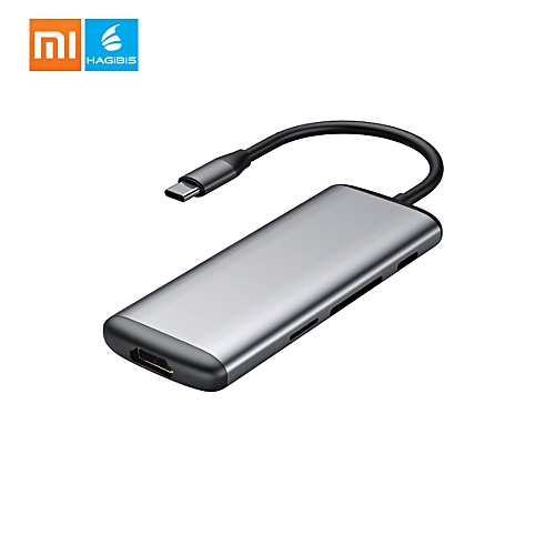 Xiaomi Hagibis USB Type-C Multi-functional Charging Adapter 6 Ports Male To Female Charging Converter Charger TF Card Reader For Phone Computer Macbook