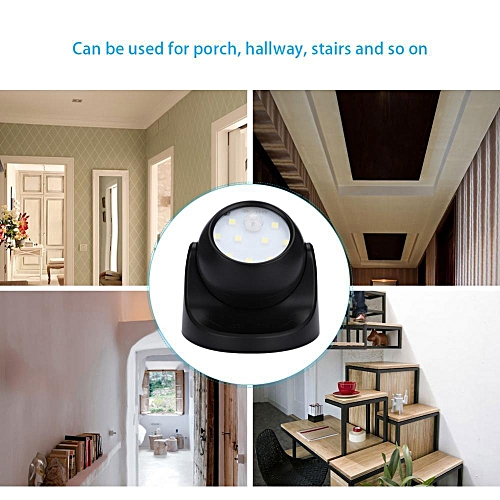 【clearance Sale+ready Stock】2 Colors Battery Powered Motion Double-sensor Light Touch LED 360 Degree Rotation Lamp