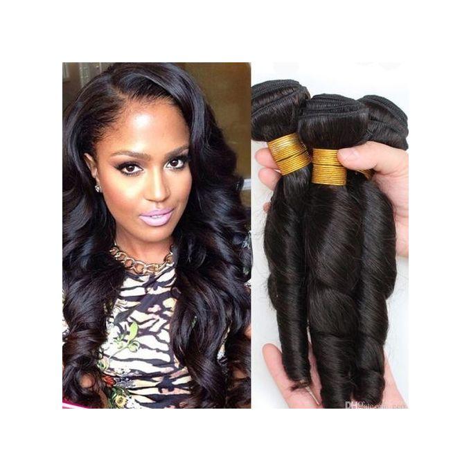 Brazillian Romance Curls Human Hair - COL 1b/ 6 Bundles