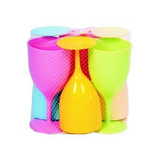 6 Plastic Cups - Multicolour-