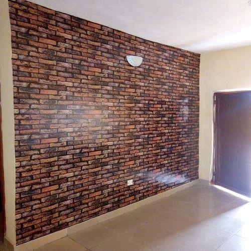 Universal 3d Effect Brick Wallpaper - Brown   Buy online ...
