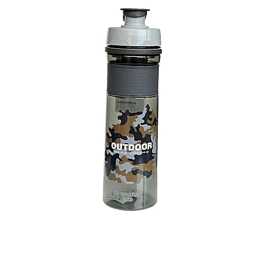 Camo Water Bottle 680ml- Black