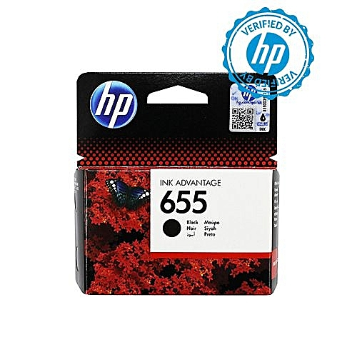 655 Black Ink Advantage Cartridge - CZ109AE BHL + FREE HP A4 Paper