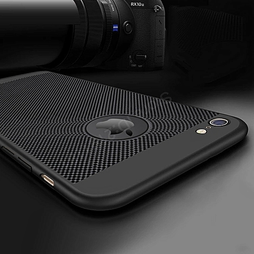 IPHONE 7 CASE,New 2018 Heat Dissipation Case For Iphone 7 (Durable, Thick, Stain Resistance )---BLACK