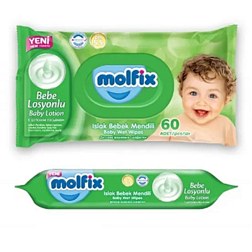 Baby Wipes 60 Count X2