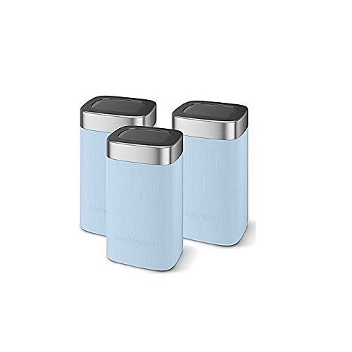 Morphy Richards Set Of 3 Storage Canisters Blue