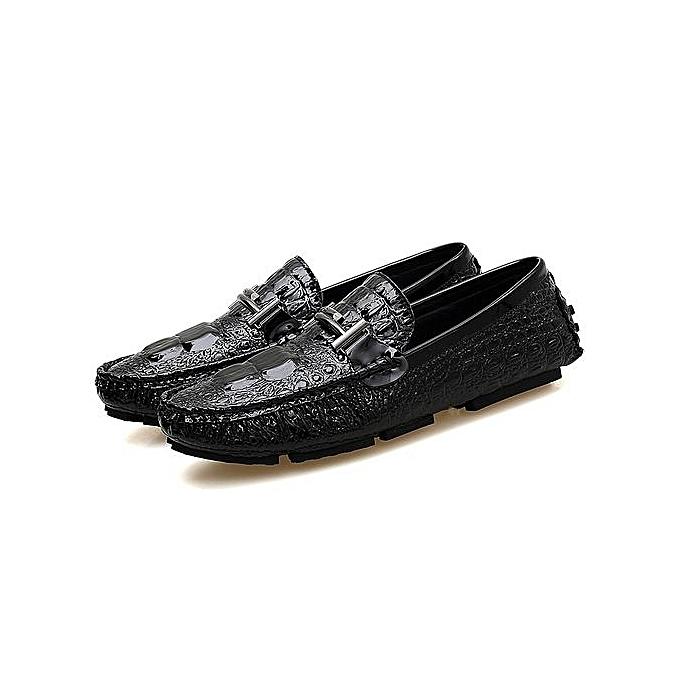 b5712bfa377f Fashion 2019 New Fahion Mens Loafers Slip-Ons Casual Shoes Men-Black ...