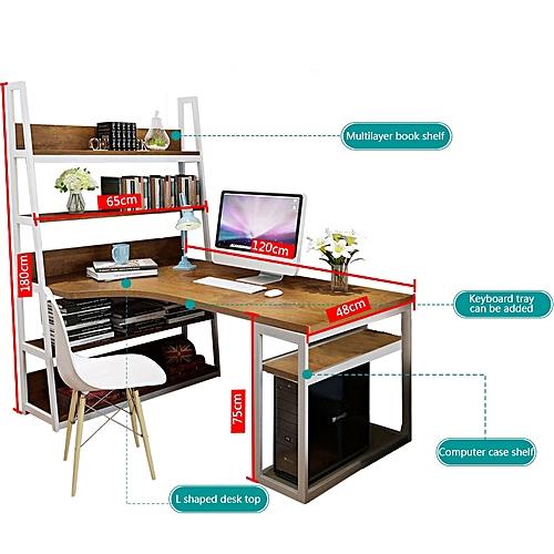Home Computer Desk / Home Work Desk-Brown,White Maple ,Light Walnut