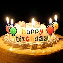 Superb Kids Happy Birthday Day Colorful Cake Decorative Candle