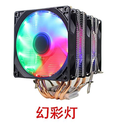 PC CPU Cooler 4 Heatpipe LED RGB 3 Fan For LGA 775 1155 115X