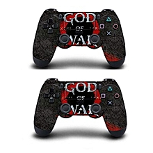A Pair Controller Skin Full Cover Sticker For Playstation 4 Dualshock 4 Gamepad Vinyl Decals Play Station 4 Skin Game God Of War(#2pcs QBTM0767) for sale  Nigeria