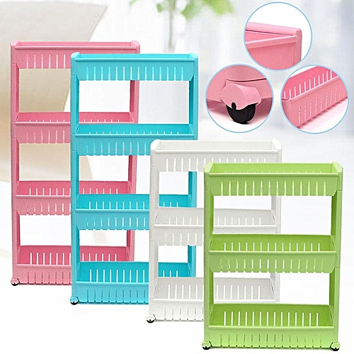 5PCS Details About New Moving Rack Kitchen Storage Shelf Wall Cabinets Bedroom Bathroom Organizer White