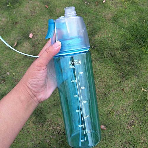 Generic 400ml/600ml Mist Spray Water Cup Drinking Mug Leak-proof Camping Sport Bottle