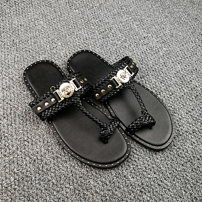 08ecf33e35c9a7 New Leisure Male Sandals Comfortable Summer Leather Slippers Men Size 38-46  Black