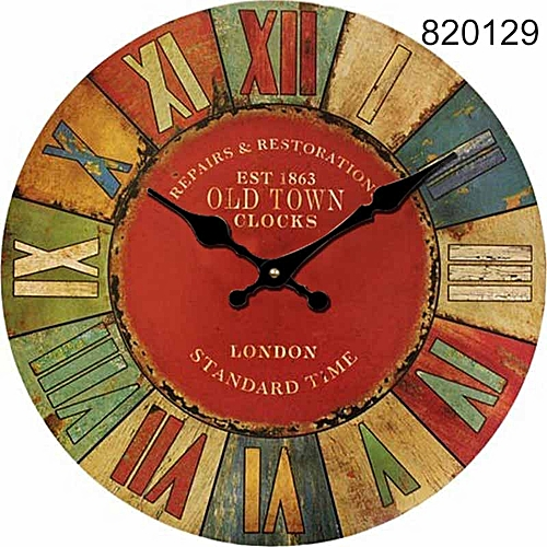 Vintage Wall Clocks Quartz Clock Mute Home Living Room Hanging Decoration Decor